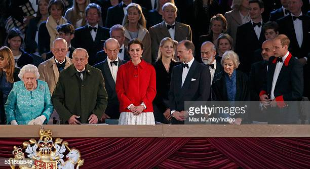 Queen Elizabeth II Prince Philip Duke of Edinburgh Catherine Duchess of Cambridge Donatus Prince and Landgrave of Hesse Princess Alexandra and Prince...