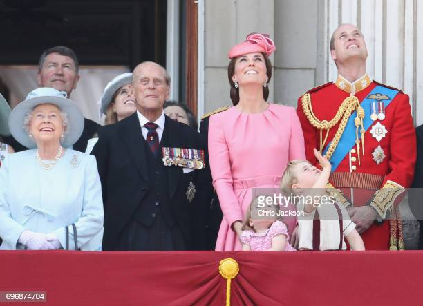 Queen Elizabeth II Prince Philip Duke of Edinburgh Catherine Duchess of Cambridge Princess Charlotte of Cambridge Prince George of Cambridge and...