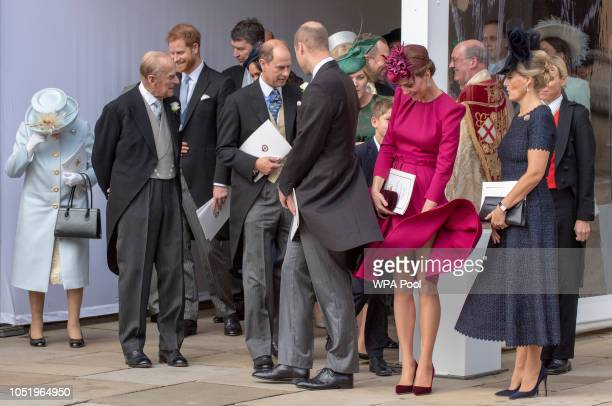 Queen Elizabeth II Prince Philip Duke of Edinburgh Prince Harry Duke of Sussex Prince Edward Earl of Wessex Prince William Duke of Cambridge...