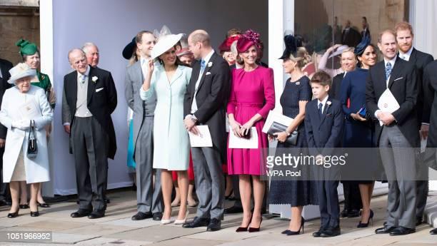 Queen Elizabeth II Prince Philip Duke of Edinburgh Prince William Duke of Cambridge Catherine Duchess of Cambridge Sophie Countess of Wessex Meghan...