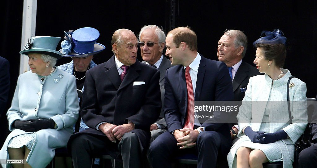 Queen Elizabeth II, Prince Philip, Duke of Edinburgh, Prince William, Duke of Cambridge and Princess Anne, Princess Royal attend an event to mark the 800th anniversary of Magna Carta on June 15, 2015 in Runnymede, United Kingdom. Members of the Royal Family are visiting Runnymede to attend an event commemorating the 800th anniversary of Magna Carta. Magna Carta is widely recognised as one of the most significant documents in history. Its influence, as a cornerstone of fundamental liberties, is felt around the world in the constitutions and political traditions of countless nations.