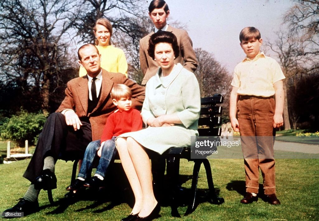 1968. H.M. Queen Elizabeth II & Prince Philip with Princess Anne, Prince Charles, Prince Andrew & Prince Edward. : News Photo