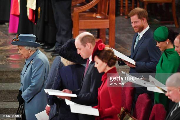 Queen Elizabeth II, Prince William, Duke of Cambridge, Catherine, Duchess of Cambridge, Prince Harry, Duke of Sussex, Meghan, Duchess of Sussex,...