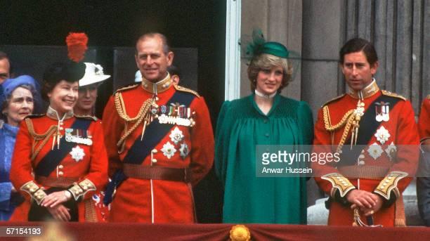 Queen Elizabeth II, Princess Alexandra, the Honourable Lady Ogilvy, Prince Philip, Duke of Edinburgh, Diana, Princess of Wales pregnant with Prince...
