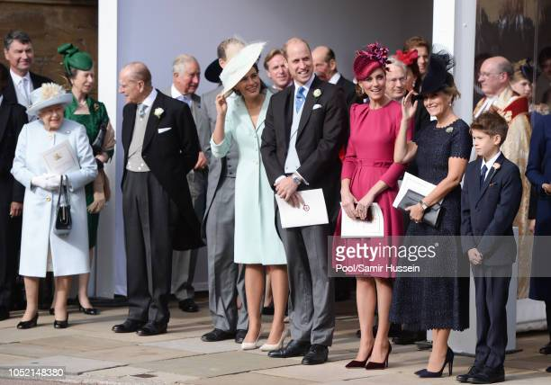Queen Elizabeth II Princess Anne Princess Royal Prince Philip Duke of Edinburgh Prince William Duke of Cambridge Catherine Duchess of Cambridge and...