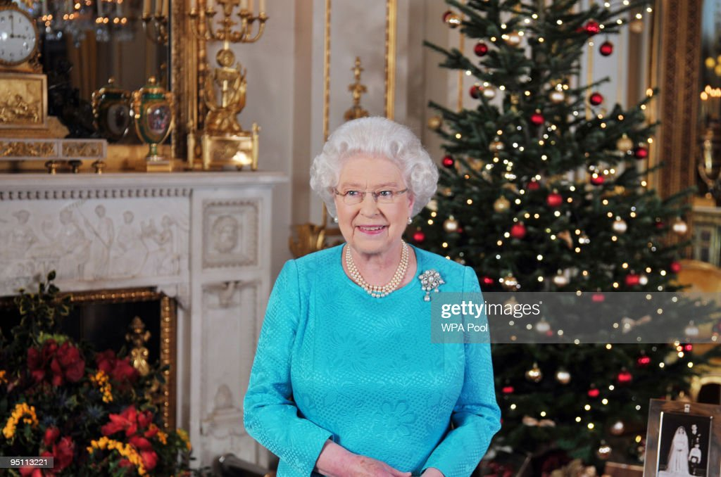 Queen Elizabeth II's Christmas Broadcast : News Photo