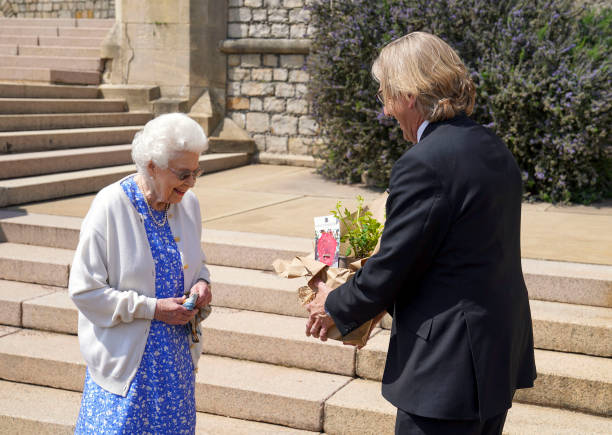 GBR: The Queen Receives A Rose Named In Memory Of The Duke Of Edinburgh