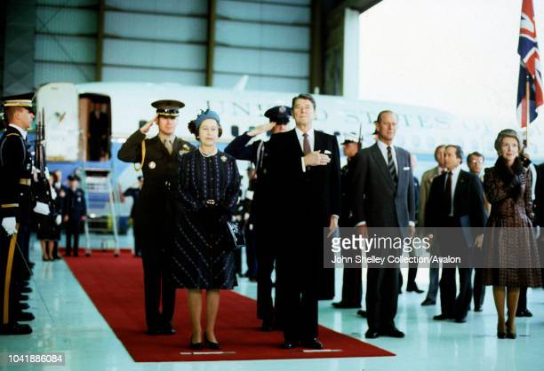 Queen Elizabeth II Ronald Reagan State Visit to the United States of America Ronald Reagan President of the USA Prince Philip Duke of Edinburgh At...