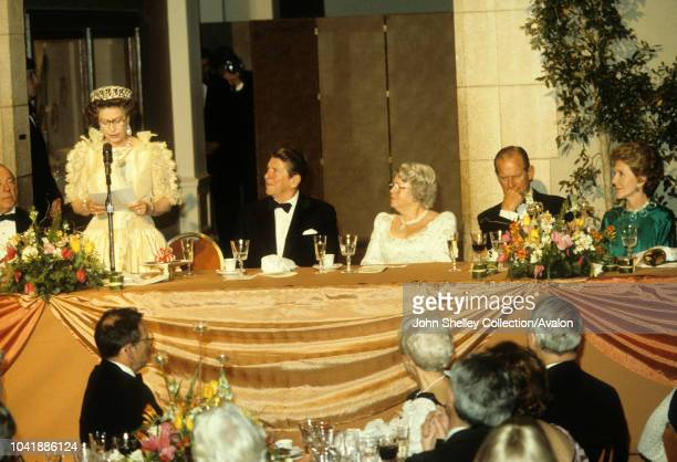 Queen Elizabeth II, Ronald Reagan, State Visit to the United States of America, Ronald Reagan, President of the USA, Prince Philip, Duke of...