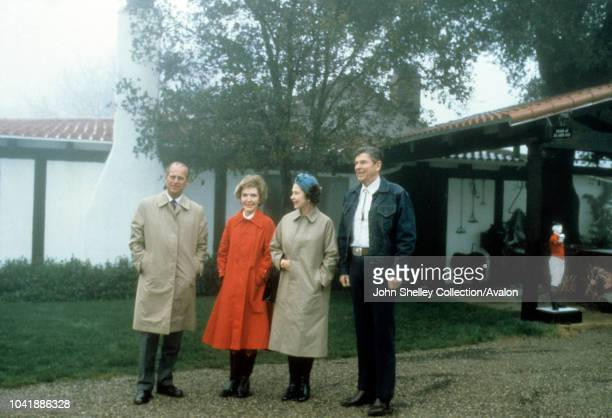 Queen Elizabeth II Ronald Reagan State Visit to the United States of America Ronald Reagan President of the USA Nancy Reagan Prince Philip Duke of...