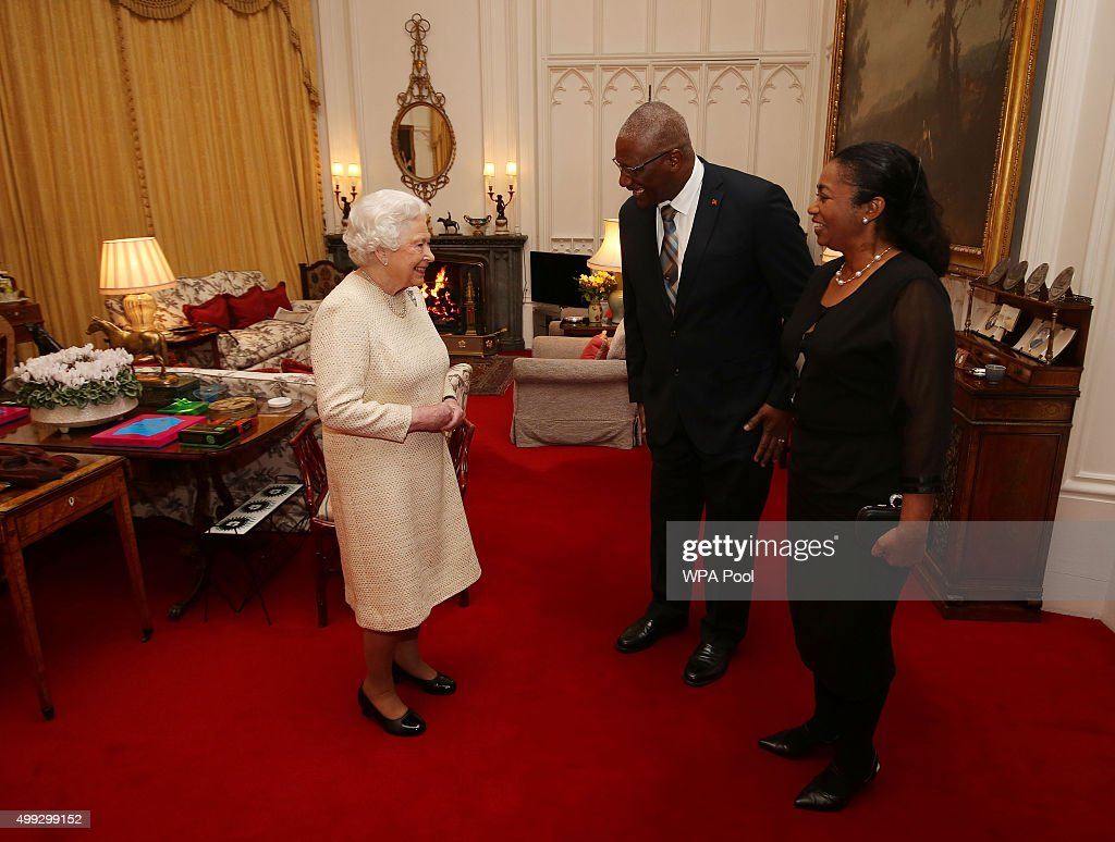 Queen Elizabeth II Meets With Governor-General of Antigua At Windsor Castle : News Photo