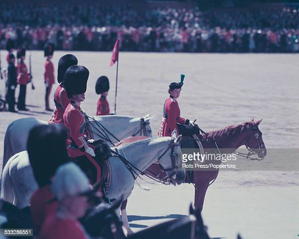 Queen Elizabeth II sits astride her horse Imperial during the Trooping the Colour ceremony on the Queen's official Birthday Parade in London in June...