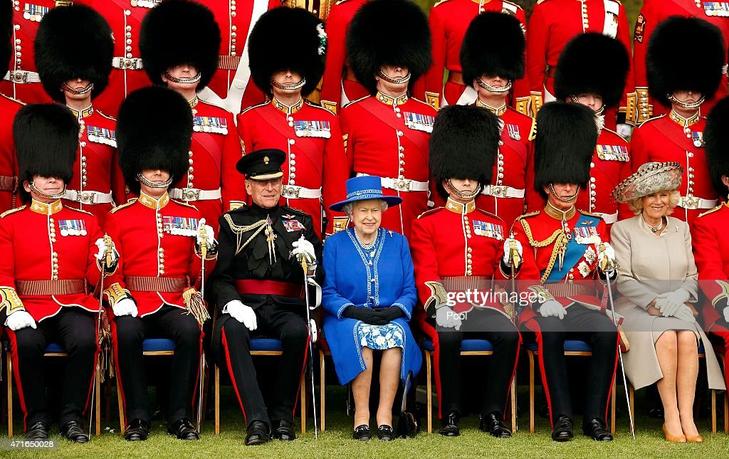 The Queen Presents New Colours To The 1st Battalion, Welsh Guards : News Photo