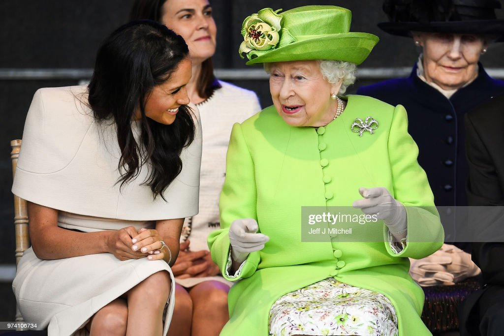 The Duchess Of Sussex Undertakes Her First Official Engagement With  Queen Elizabeth II : News Photo