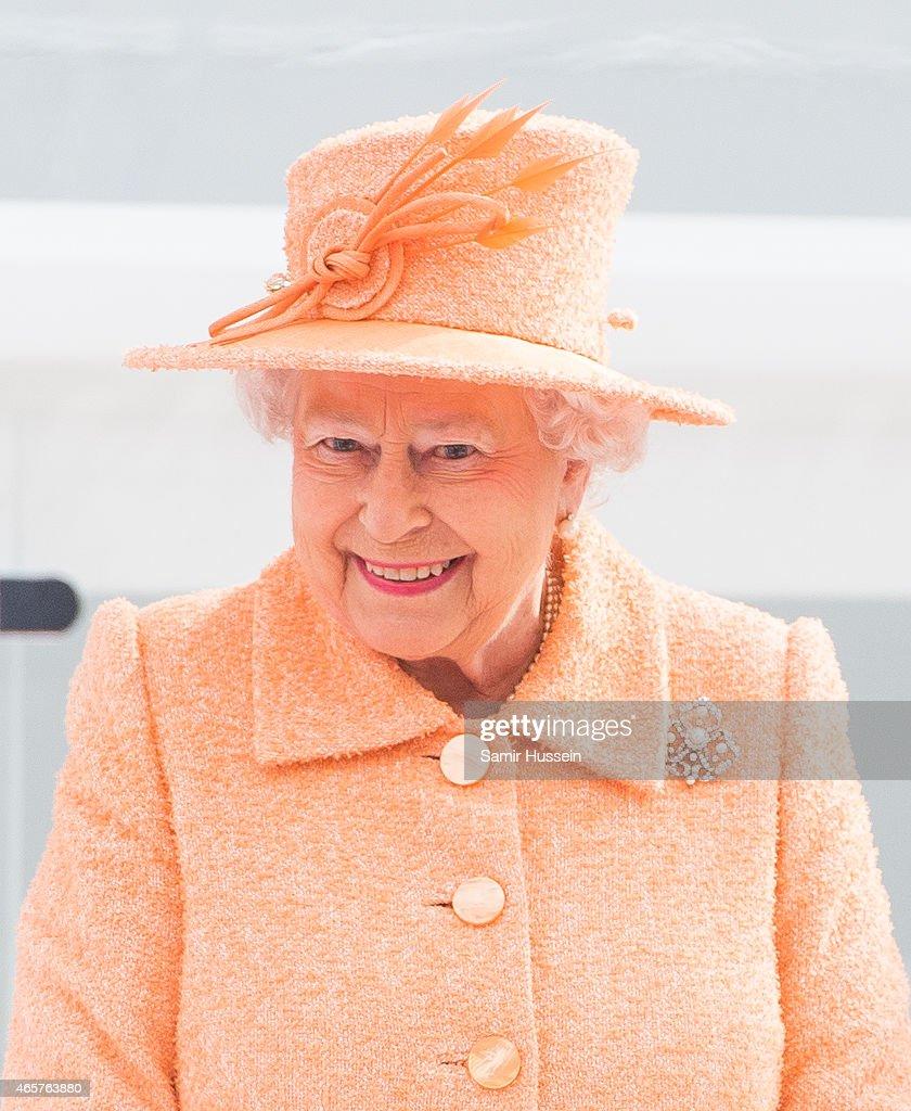 The Queen And Duke Of Edinburgh Attend Naming Ceremony Of P&O Cruise Ship Britannia : News Photo