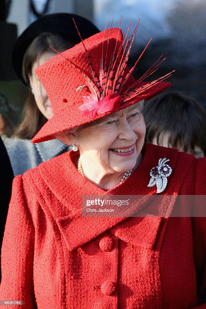 Royals Attend Christmas Day Service At Sandringham : News Photo
