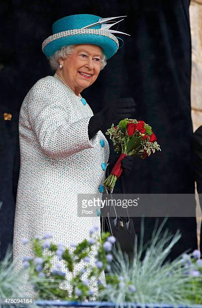Queen Elizabeth II smiles as she visits Lancaster Castle on May 29 2015 in Lancaster England
