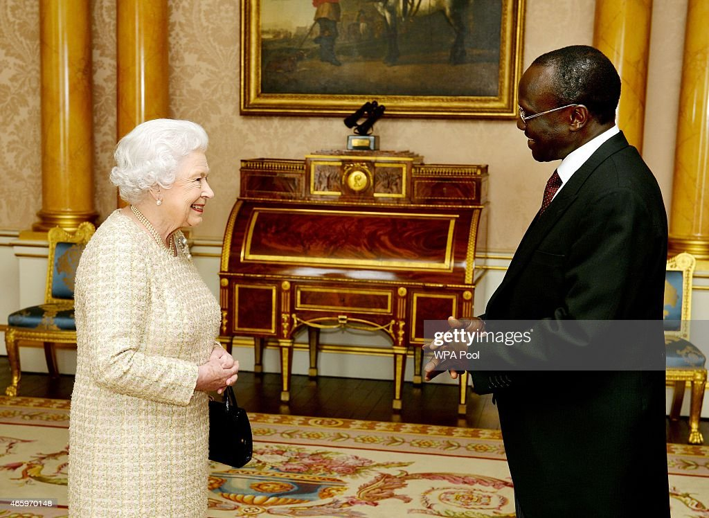 Ambassador Attend An Audience With The Queen : News Photo