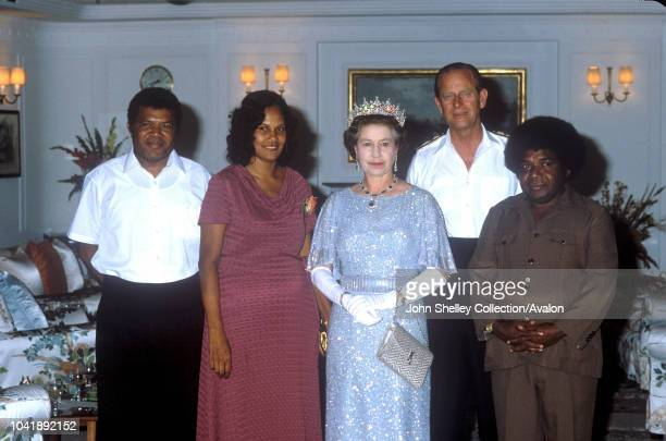 Queen Elizabeth II Solomon Islands Prince Philip Duke of Edinburgh 18th October 1982