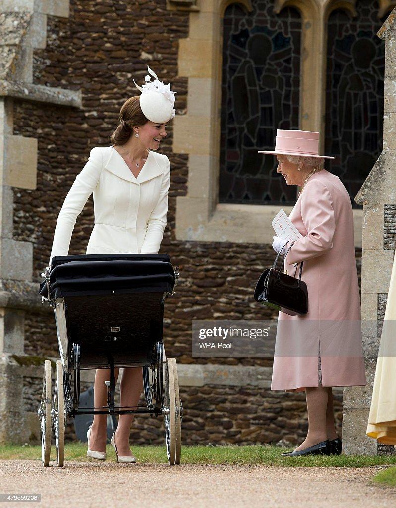 Queen Elizabeth II Speaks To Catherine, Duchess Of