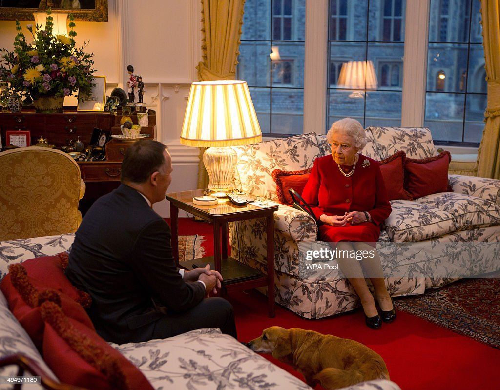 Queen Elizabeth II Meets Prime Minister of New Zealand John Key At Windsor Castle : News Photo