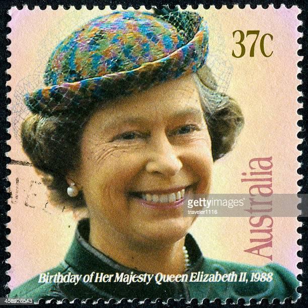 queen elizabeth ii stamp - rms queen elizabeth stock photos and pictures