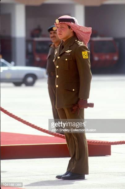 Queen Elizabeth II, State visit to Jordan, Crown Prince Abdullah of Jordan, 27th March 1984.