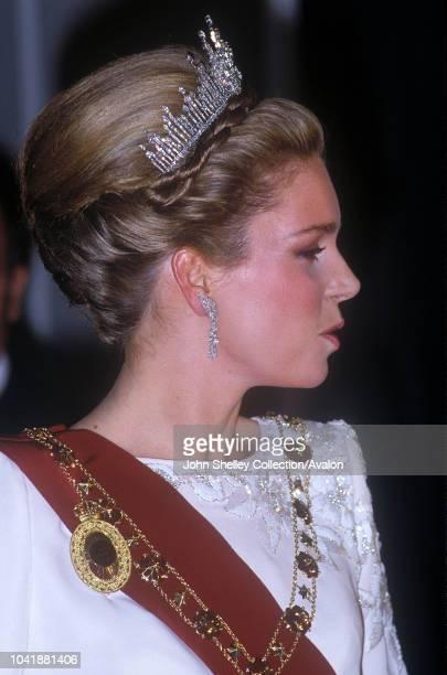 Queen Elizabeth II, State visit to Jordan, Queen Noor of Jordan, 27th March 1984.
