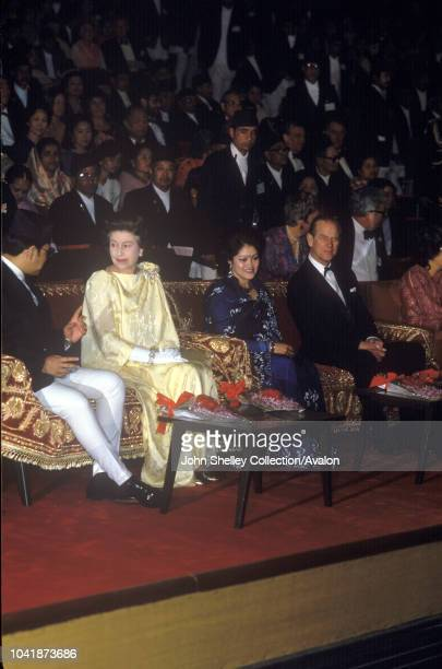 Queen Elizabeth II state visit to Nepal 17th 21st February 1986 Prince Philip Duke of Edinburgh King Birendra and Queen Aishwarya of Nepal