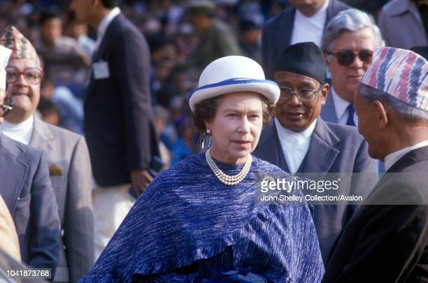 Queen Elizabeth II state visit to Nepal 17th 21st February 1986
