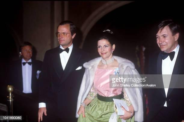 Queen Elizabeth II Sweden King Carl XVl Gustaf and Queen Silvia of Sweden 25th May 1983