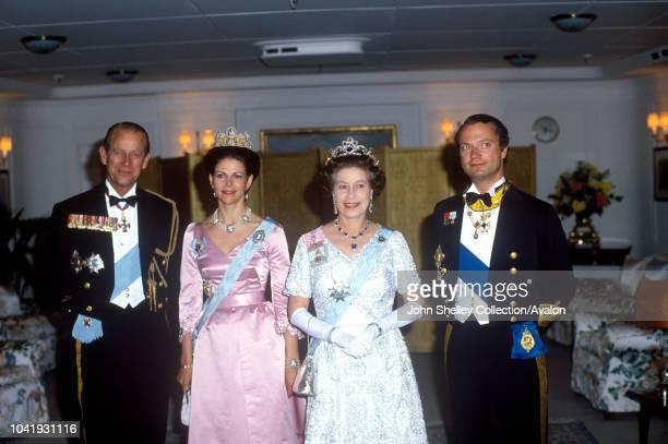 Queen Elizabeth II Sweden King Carl XVl Gustaf and Queen Silvia of Sweden Prince Philip Duke of Edinburgh 25th May 1983