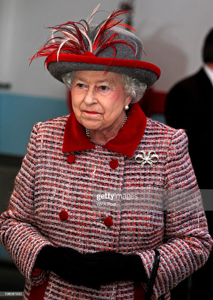 The Queen Visits Companies In Essex : News Photo