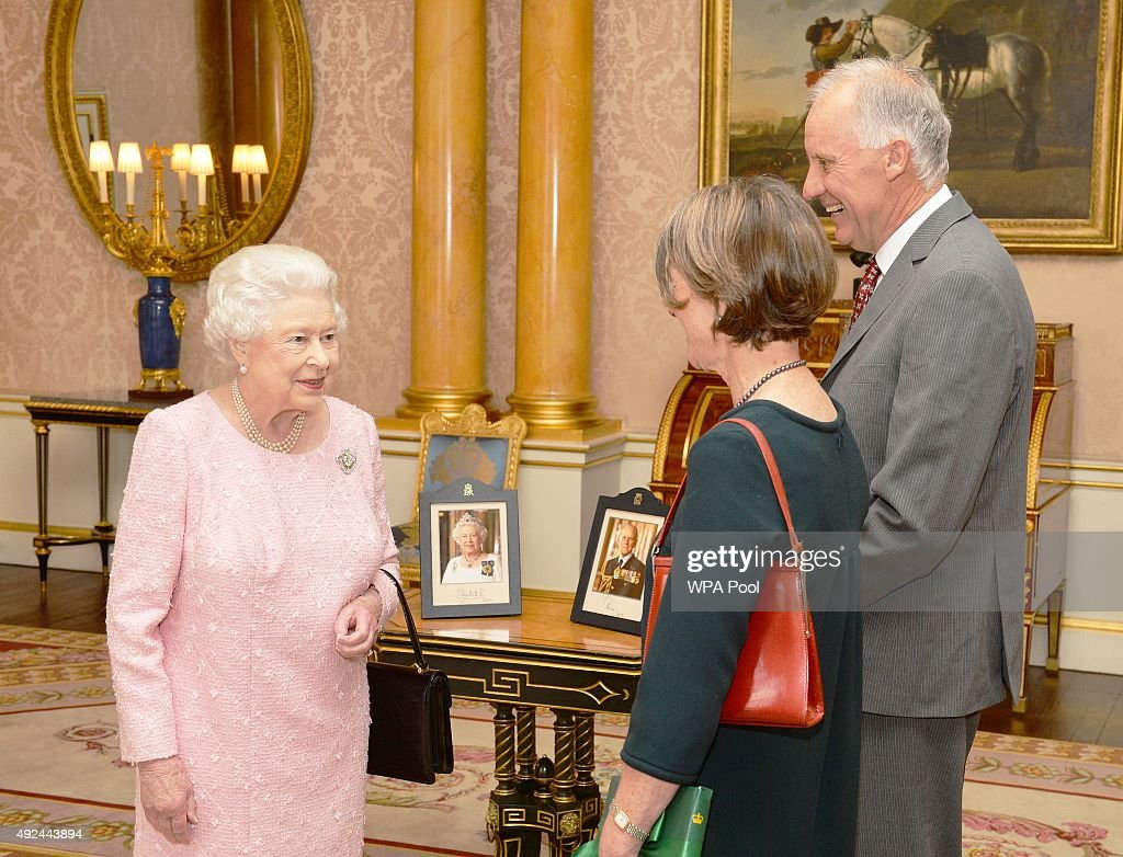 Queen Elizabeth II Private Audience At Buckingham Palace : News Photo