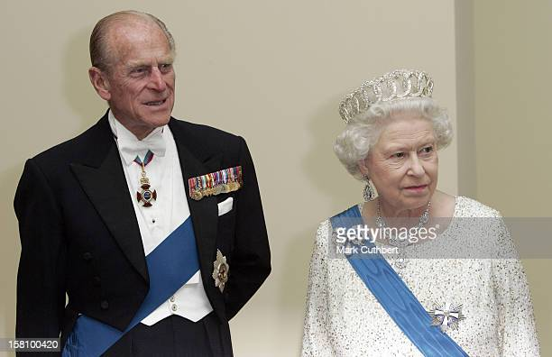 Queen Elizabeth Ii The Duke Of Edinburgh Visit The Baltic StatesState Banquet At The House Of The Brotherhood Of Blackheads In Tallinn Estonia