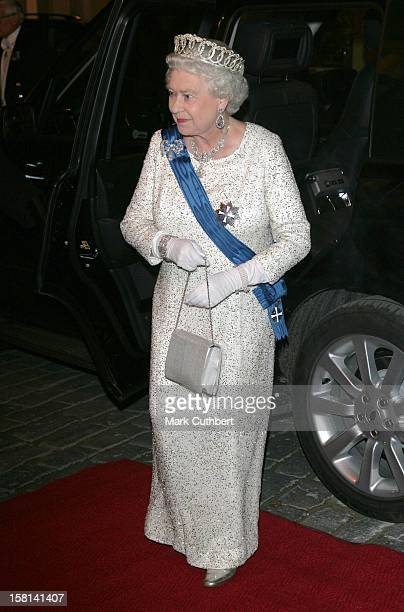 Queen Elizabeth Ii The Duke Of Edinburgh Visit The Baltic StatesState Banquet At The House Of The Brotherhood Of Blackheads In Tallinn Estonia