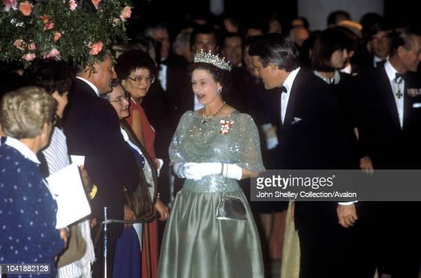 Queen Elizabeth II, Tour of Canada, Brian Mulroney, Prime Minister of Canada, 24th September 1984.