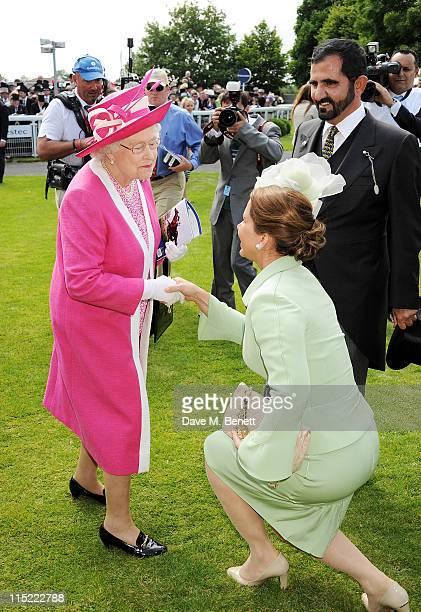Queen Elizabeth II UAE Vice President and Prime Minister and Ruler of Dubai HH Sheikh Mohammed bin Rashid Al Maktoum and Princess Haya bint alHussein...