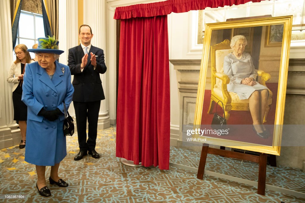 The Queen Visits The Royal Air Force Club To Mark Its Centenary Year : News Photo