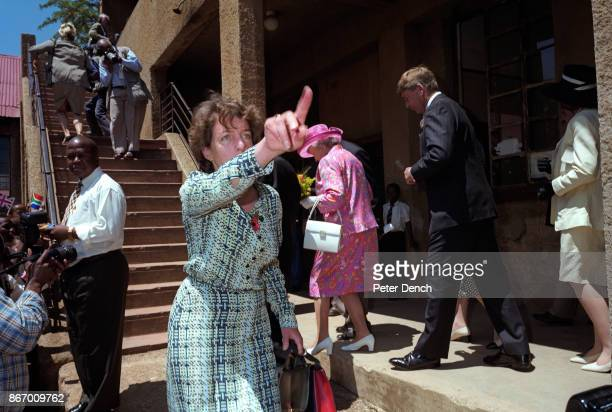 Queen Elizabeth II visiting a school in the Alexandra township in the Gauteng province of South Africa It forms part of the city of Johannesburg and...