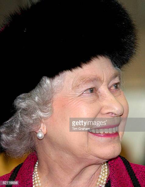 Queen Elizabeth II Visiting Computer Software Company Sophos Which Sells Antivirus Software Her Black Fur Hat Perhaps Inspired By The Bearskin Hats...