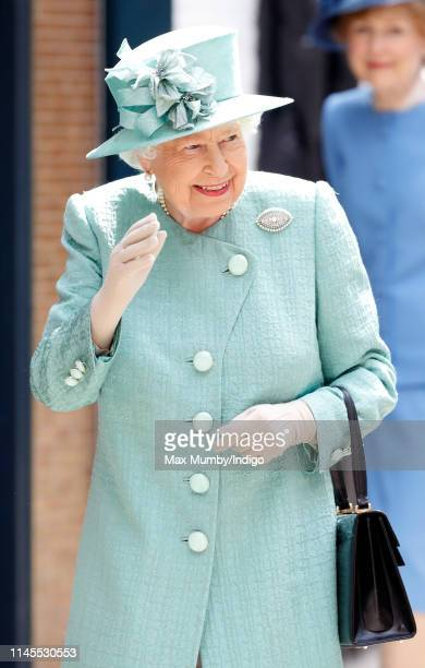 Queen Elizabeth II visits a replica of one of the original Sainsbury's stores in Covent Garden to mark the 150th anniversary of the supermarket chain...