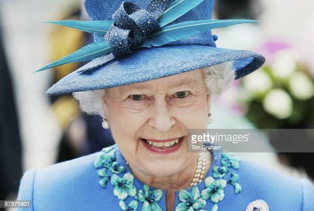 Queen Elizabeth II visits BBC Broadcasting House to mark the 80th anniversary of the granting of the Corporation's Royal Charter on April 20 2006 in...