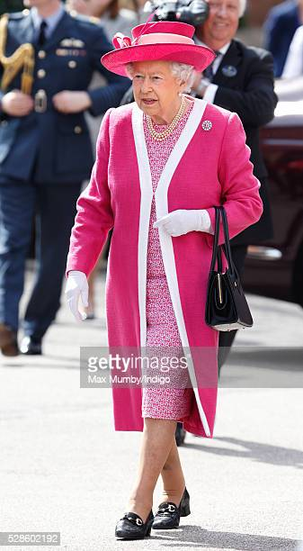 Queen Elizabeth II visits Berkhamsted School on the occasion of the 475th Anniversary of its foundation on May 6 2016 in Berkhamsted England