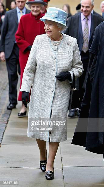 Queen Elizabeth II visits Brasenose College on December 2 2009 in Oxford England During the College's Quincentenary year there have been a number of...