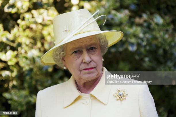 Queen Elizabeth II visits Cambridge University to attend the Quincentenary celebrations at Christ's College on June 8, 2005 in Cambridge, England. .
