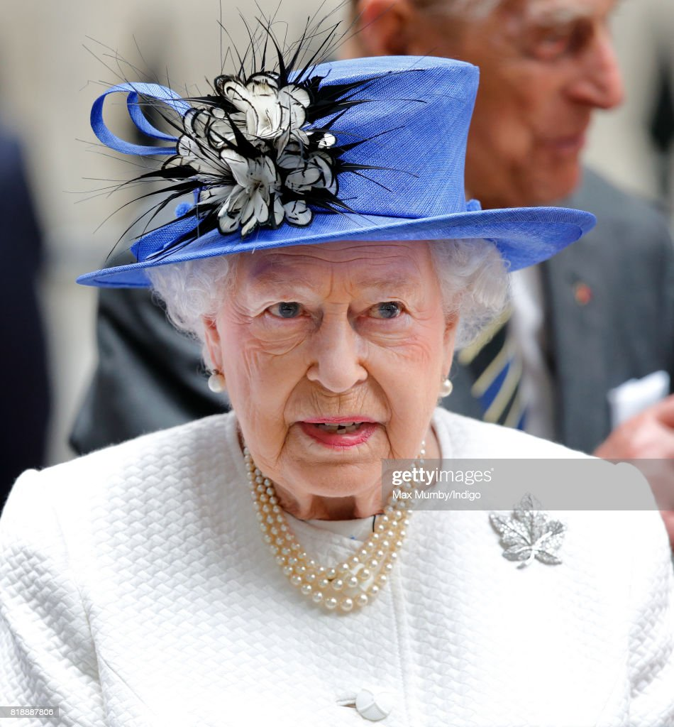 The Queen And Duke Of Edinburgh Visits Canada House : News Photo