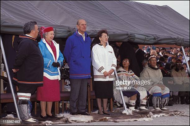 Queen Elizabeth II Visits Canada On August 22nd 1994 Queen Elizabeth And Prince Philip In Canada On August 22nd 1994