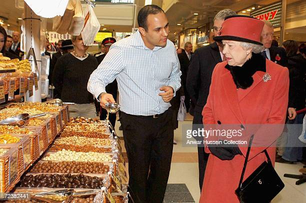 Queen Elizabeth II visits County Mall on November 3 2006 in Crawley England Queen Elizabeth II has scaled down her original plans for the visit due...