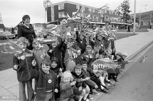 Queen Elizabeth II visits Grangetown 14th July 1977